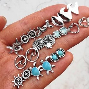 Boutique Ocean 12 pc Fashion Jewelry Earrings